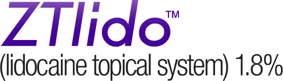 ZTlido (lidiocaine topical system) 1.8%
